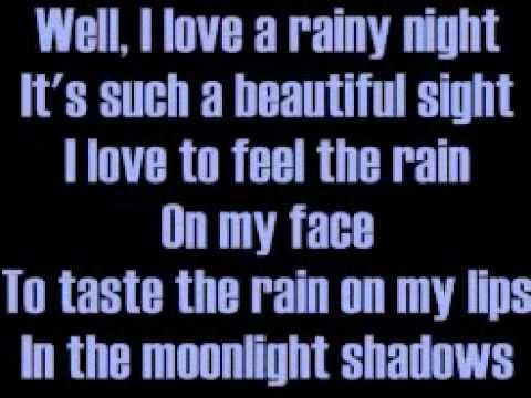 Música I Love A Rainy Night