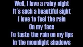 <b>Eddie Rabbitt</b> I Love A Rainy Night Lyrics