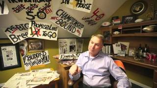 Who Dat Man Cave: Larry Rollings Saints Sign Room