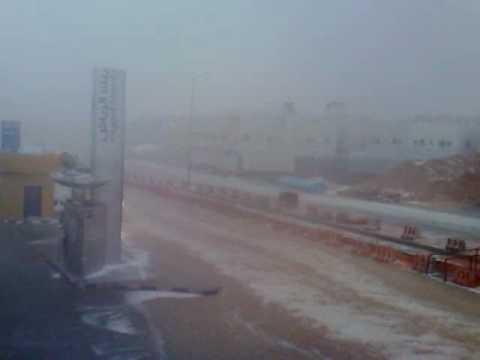 امطار وتساقط البرد الرياض الاثنين 19-5