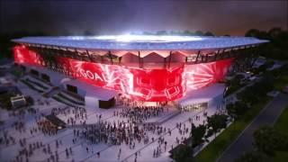 Inside Western Sydney Stadium