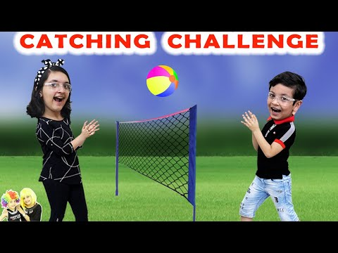 CATCHING CHALLENGE | Funny game for kids | Boys vs Girls | Aayu and Pihu Show