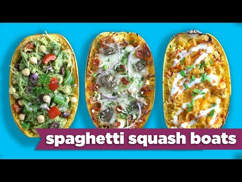 Video Spaghetti Squash Boats - Easy Meal Prep Healthy Dinner Recipes! - Mind Over Munch