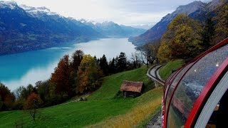 Scenic Switzerland from The Brienz Rothorn Bahn (Cog Railway)