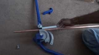 How to bend a copper pipe using a pipe bender in HD 1080p