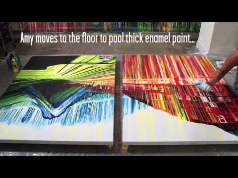 Video: What 30 Hours Of Painting Without Paint Brushes Looks Like