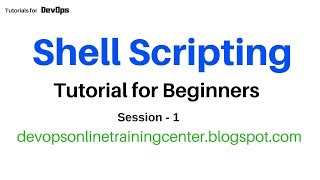 Shell Scripting Tutorials for Beginners | Unix Commands | for Devops