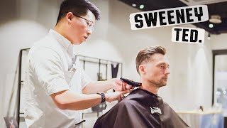 💈 Relaxing 1-hour Haircut Finished With A Citrus-Scented Hot Towel | Sweeney Ted Barbershop Malaysia