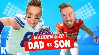 DAD vs SON in MADDEN NFL 20 (Closest Game EVER!) KIDCITY GAMING
