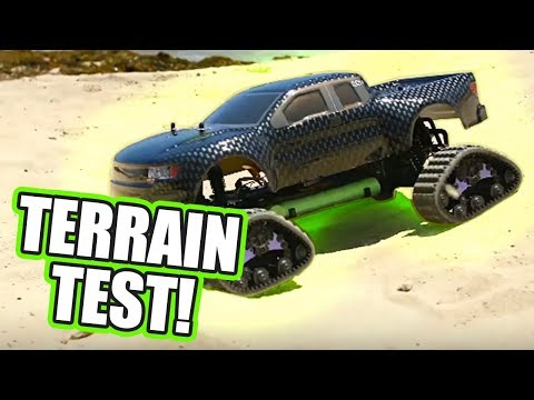 Exceed RC 1/10 Infinitive Brushless Tracked Truck In Action