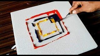 Download Video Making of EASY Abstract Painting / Acrylics & Palette knife / Project 365 days / Day #098 MP3 3GP MP4