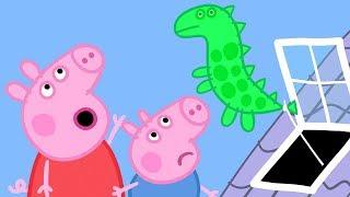 Peppa Pig English Episodes | Peppa Pig And George Chasing Dinosaur Balloon | Peppa Pig Official