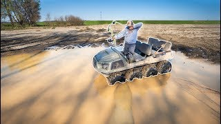 Bowfishing in TINY PUDDLE for BIG FISH!!! (Lucky Shot)