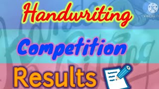 Handwriting Competition results announcement  Handwriting Competition winners 