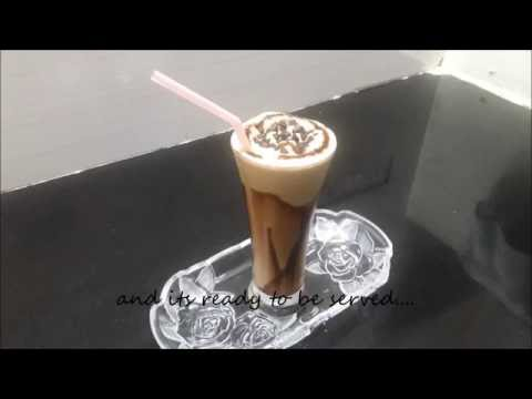 Video cold coffee with icecream