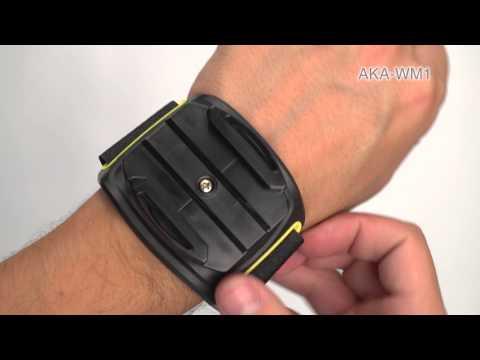 Регулируемый ремешок на запястье c держателем для Action Cam Sony AKA-WM1 видео 1