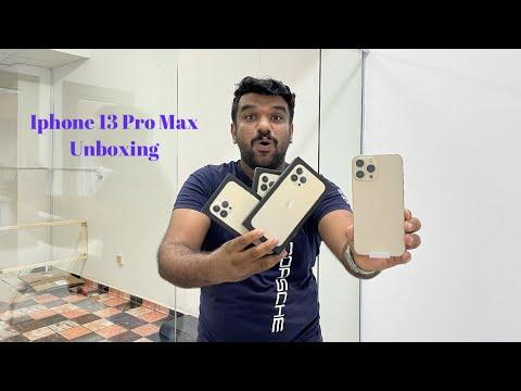 國外YouTuber搶先開箱金色iPhone 13 Pro Max