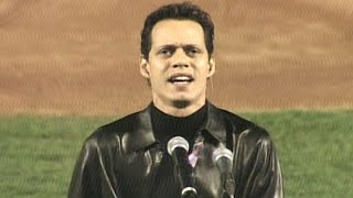 Marc Anthony sings The Star-Spangled Banner