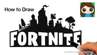 How to Draw Fortnite Logo Easy | Kholo.pk