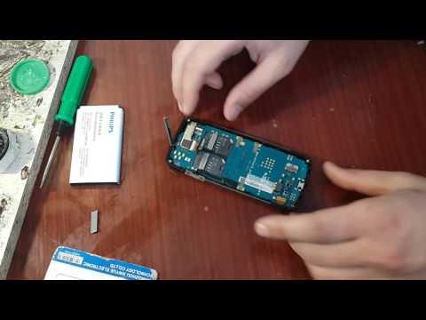 Как разобрать телефон Philips Xenium X5500!