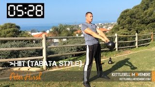 HIIT Tabata Kettlebell Workout by Kettlebell Movement