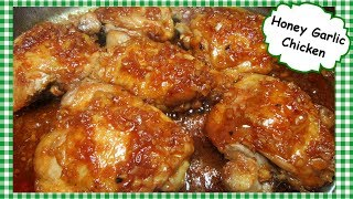 Honey Garlic Glazed Chicken Thighs ~ Cooking Chicken on Stove Top