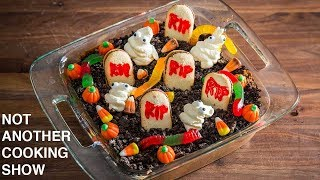 HOW TO MAKE A BETTER GRAVEYARD PUDDING   HALLOWEEN PARTY IDEA
