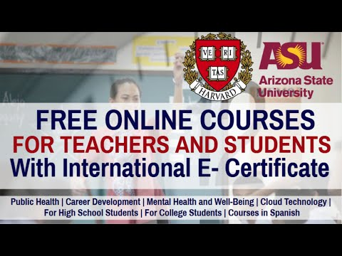 Free Online Courses For Teachers and Students With International ...