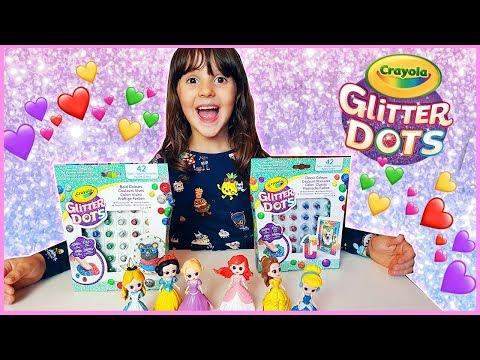 Decoriamo le principesse con i Glitter Dots!!