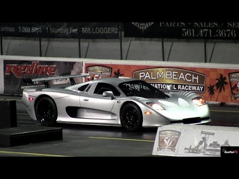 RARE Mosler MT900 vs SLR McLaren 1/4 Mile Drag Race