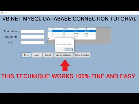 insert update delete view and search data from MySql database in VB.NET