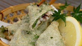 Fried Shiso Wrapped Sardines
