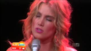 Delta Goodrem - Dancing with a broken Heart (live on Today Show 22aug12)