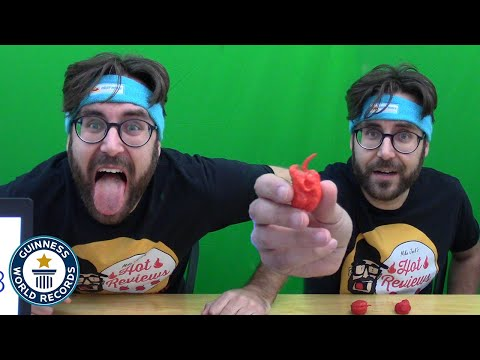 How Fast Can You Eat 3 Carolina Reaper Chillis?