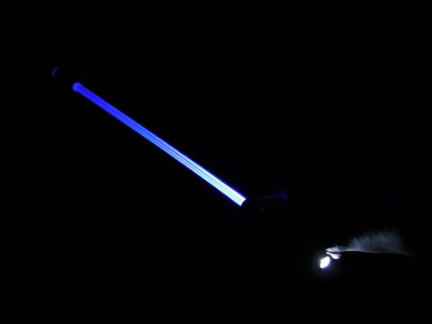 Unpacking of the Betron Light Saber LED Umbrella with Torch