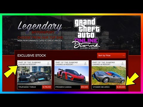 GTA Online The Diamond Casino & Resort DLC Update - NEW VEHICLES! Trufadde Thrax, Supercars & MORE!