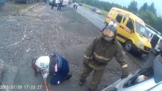 Страшная авария на ГБШ.Работа спасателей МАСС Новосибирска