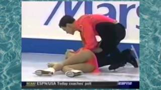 Ужасное падение российской фигуристки (2004 год)