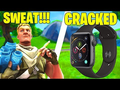 BEST FORTNITE PLAYER ON A APPLE WATCH!!! (FASTEST 90's)