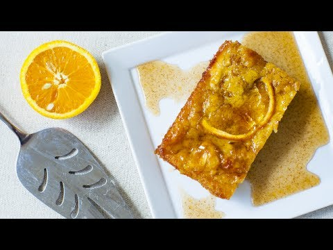 Pastel de filo y naranja