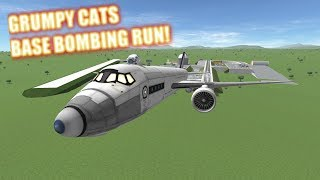 Kerbal War 1 Bombing A Base And Tanks | Kerbal Space Program