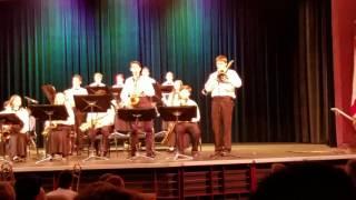 Delaura Middle School Spring Concert 2017- Jazz Band - The Wayfaring Stranger