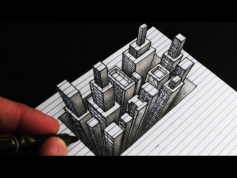 How to Draw an Anamorphic 3D City