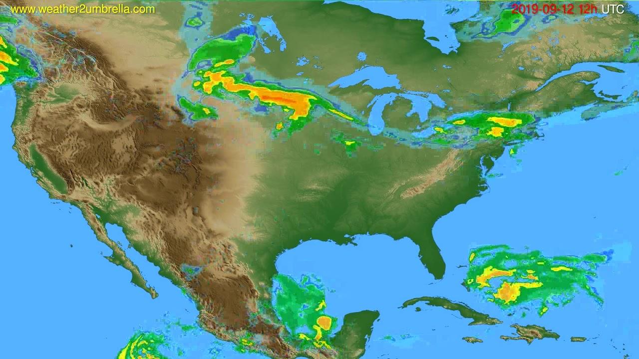 Radar forecast USA & Canada // modelrun: 00h UTC 2019-09-12