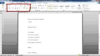 [3.1.3] Mettre en forme un document (rédigé avec un traitement de texte)