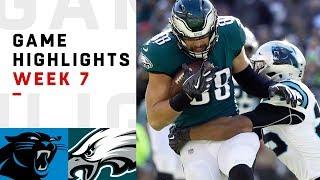 Panthers vs. Eagles Week 7 Highlights   NFL 2018