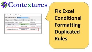 How To Fix Excel Conditional Formatting Duplicated Rules