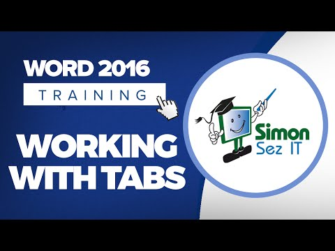 Working with Tabs in Microsoft Word 2016