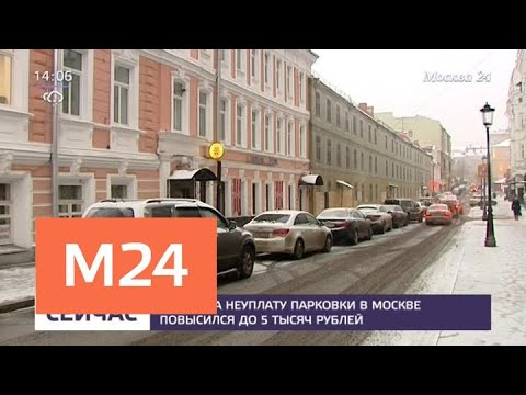 В Москве вдвое увеличили штраф за неоплату парковки - Москва 24