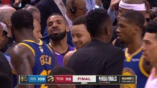 Drake Trash Talks Draymond Green - Game 1 | Warriors Vs Raptors | 2019 NBA Finals